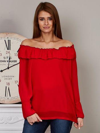Szyfonowa bluzka hiszpanka czerwona