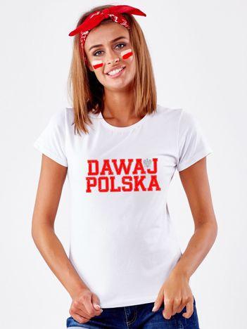 T-shirt biały DAWAJ POLSKA