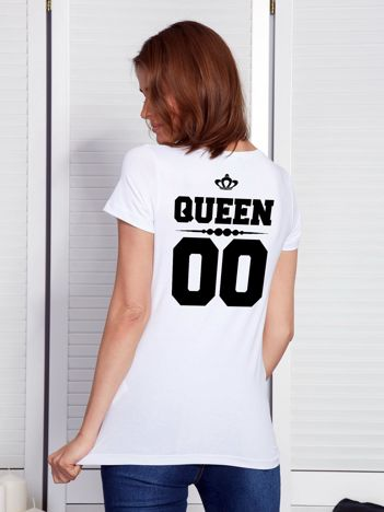 T-shirt dla par z napisem biały