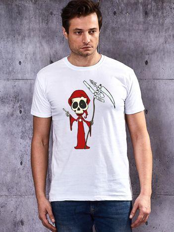 T-shirt męski Halloween biały