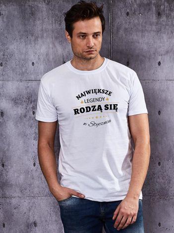T-shirt męski biały NAJWIĘKSZE LEGENDY ZE STYCZNIA