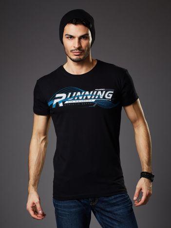 T-shirt męski czarny Running