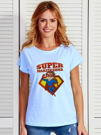 T-shirt niebieski SUPER NARZECZONA
