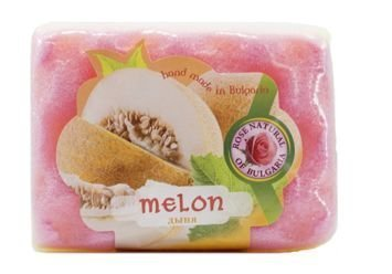 THE ROSE Peelingujące mydło-gąbka Melon 70 g