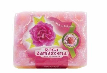 THE ROSE Peelingujące mydło-gabka Róża 70 g