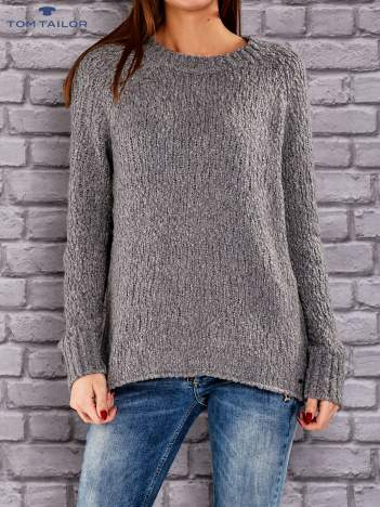 TOM TAILOR Ciemnoszary włóczkowy sweter