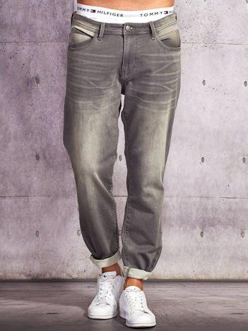 TOM TAILOR Szare spodnie męskie ze stretchem