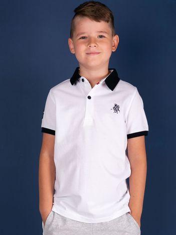 TOMMY LIFE Biała koszulka polo chłopięca