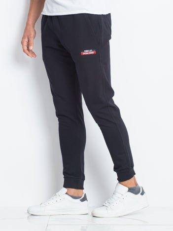 TOMMY LIFE Ciemnogranatowe męskie spodnie