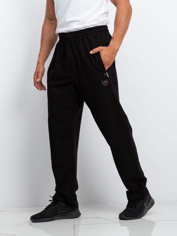 TOMMY LIFE Męskie czarne dresy plus size