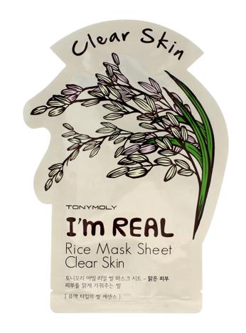 TONY MOLY I'M REAL Rice Ryżowa oczyszczająca koreańska maska w płachcie 21g