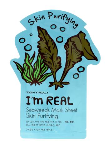 TONY MOLY I'M REAL Seaweed Oczyszczająca koreańska maska w płachcie z ekstraktem z wodorostów 21g