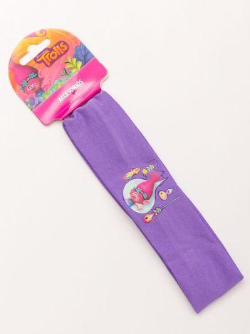 TROLLE Fioletowa elastyczna opaska do włosów