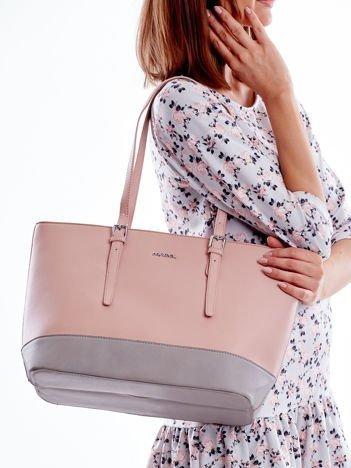 Torba różowa shopper bag