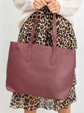 Torba shopper bag bordowa