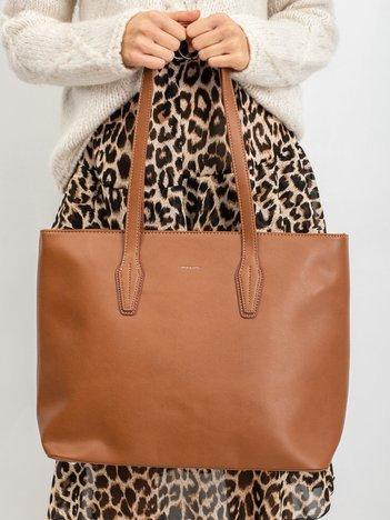 Torba shopper bag brązowa