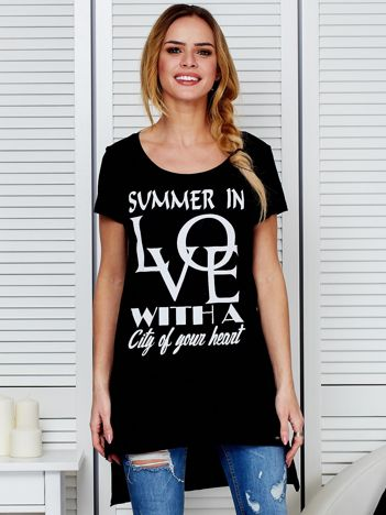 Tunika czarna bawełniana SUMMER IN LOVE