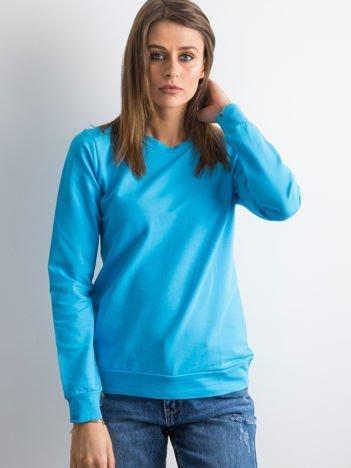Turkusowa bluza damska basic