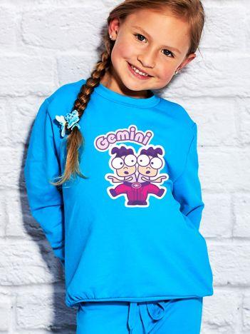 Turkusowa bluza dziecięca znak zodiaku BLIŹNIĘTA