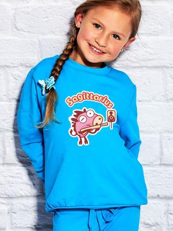 Turkusowa bluza dziecięca znak zodiaku STRZELEC