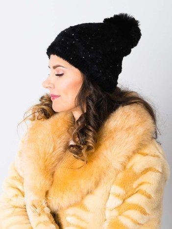 V&T Winter Fashion Szara Ocieplana Czapka Męska