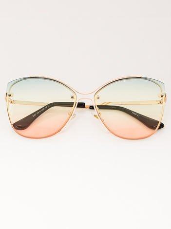 VICS Okulary przeciwsłoneczne damskie złote szkło multicolor