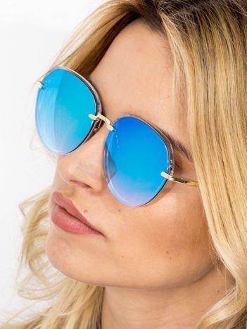 VICS Okulary przeciwsłoneczne lustrzanki+ miękkie etui gratis