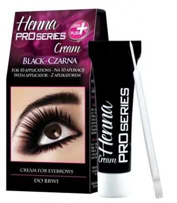Verona PRO SERIES HENNA DO BRWI W KREMIE CZARNA 15 ml