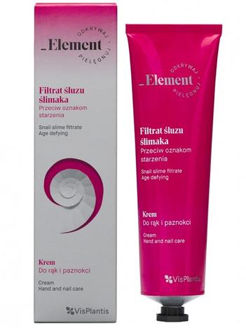 Vis Plantis Element Filtrat Śluzu Ślimaka Krem do rąk i paznokci przeciw oznakom starzenia 100 ml