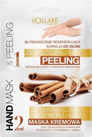 Vollaré KURACJA DO DŁONI REGENERUJĄCA (PEELING+ MASKA) 2X6 ML