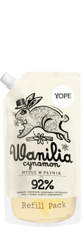 YOPE Doypack Mydło w płynie Wanilia Cynamon500 ml
