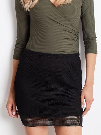 YUPS Czarna spódnica z ażurową warstwą