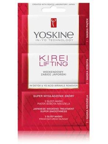 Yoskine Kirei Lifting Weekendowy Zabieg Japoński super wygładzenie skóry 4 ml + 4 ml + 5 ml