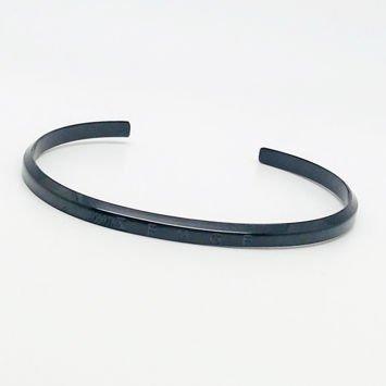 ZEMGE Bransoletka czarna ze stali nierdzewnej Idealna do zegarka