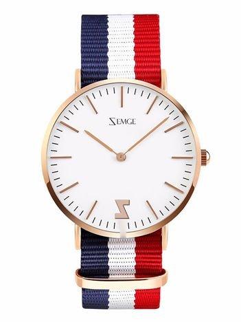 ZEMGE Zegarek damski złoty na nylonowym pasku Eleganckie pudełko prezentowe w komplecie