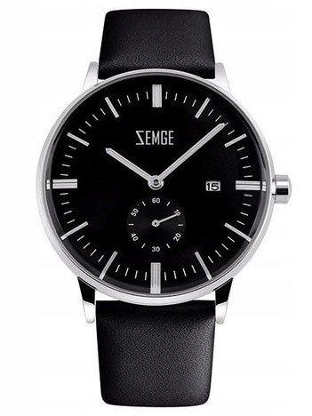 ZEMGE Zegarek męski ZC0301 Połączenie klasyki z nowoczesnością w zegarku o zjawiskowym wyglądzie Kolor czarny