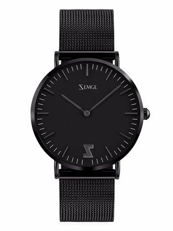 ZEMGE Zegarek unisex czarny na bransolecie typu MESH Eleganckie pudełko prezentowe w komplecie