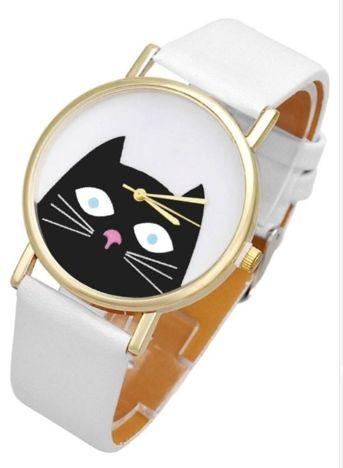 Zegarek damski biały KOTEK