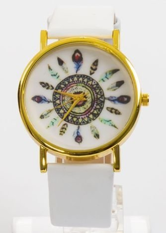 Zegarek damski biały boho