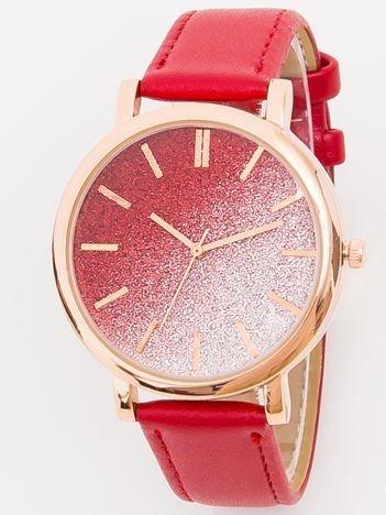 Zegarek damski glitter czerwony