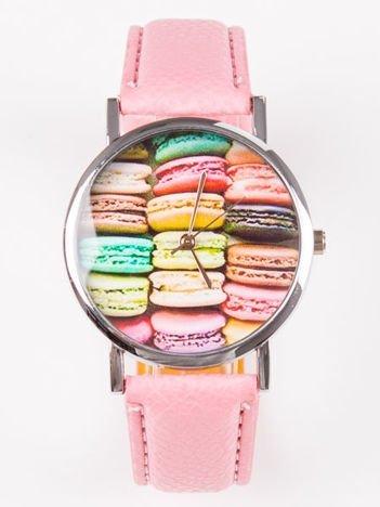 Zegarek damski różowy z ciasteczkami
