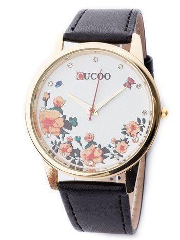 Zegarek damski z motywem kwiatowym