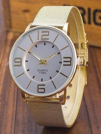 Zegarek damski złoty na bransolecie typu mesh