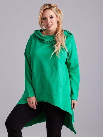 Zielona asymetryczna bluza PLUS SIZE