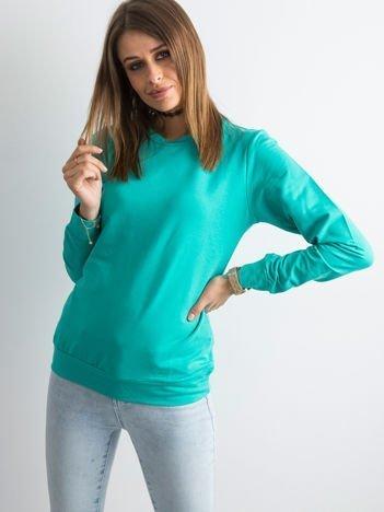 Zielona bluza damska basic