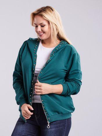 Zielona bluza dresowa PLUS SIZE