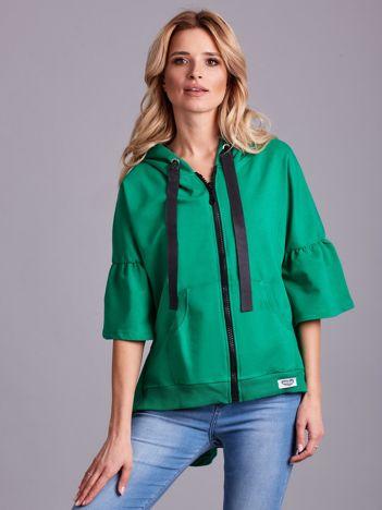Zielona bluza dresowa z szerokimi rękawami