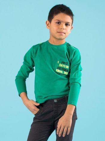 Zielona bluzka dla chłopca z printem