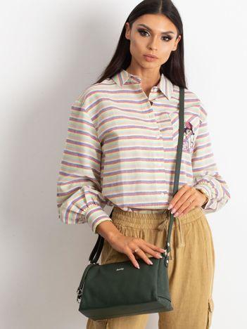 Zielona damska torebka skórzana