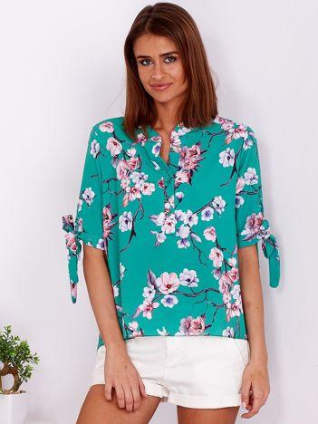 Zielona kwiatowa bluzka